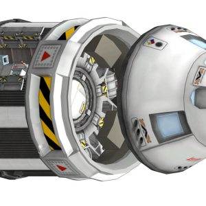 Apollo style command service module. Image created with Kronal Vessel Viewer.