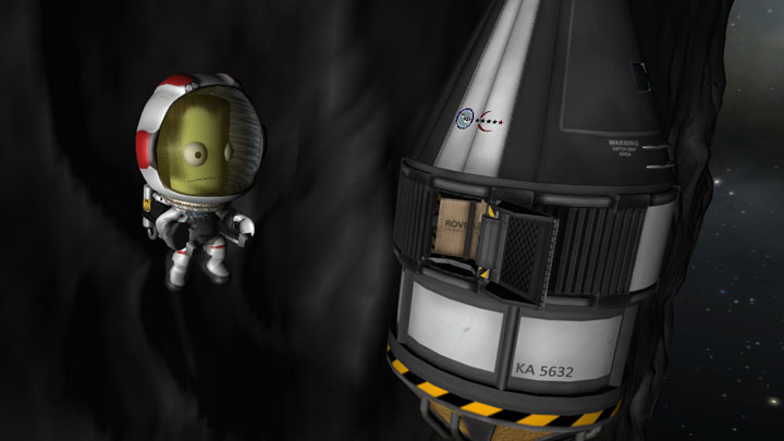 Wedges are accessible via EVA using Kerbal Inventory System.