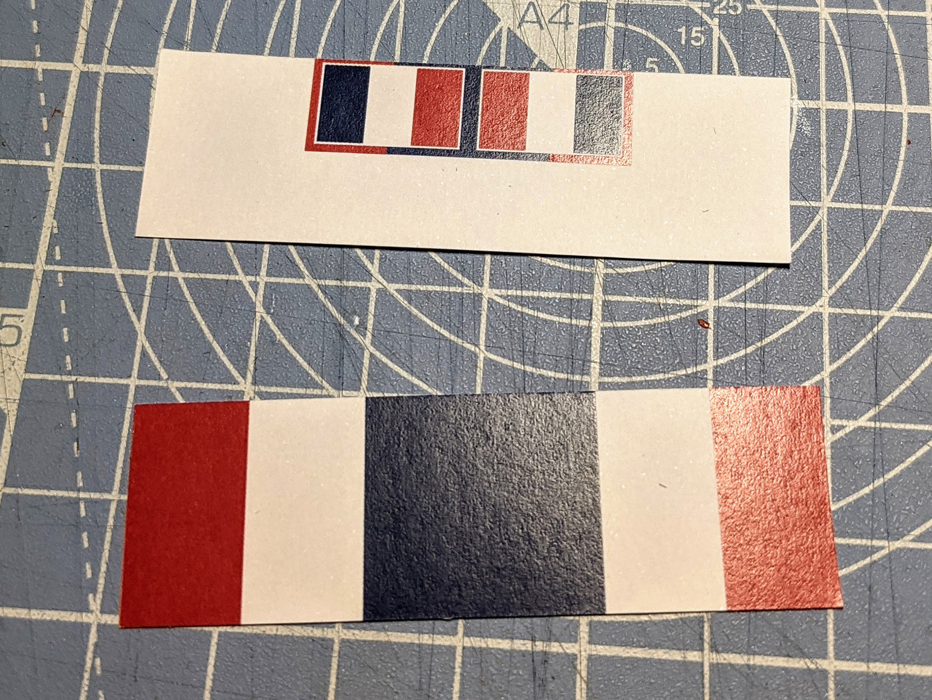 Use scissors to complete the cuts for each flag.