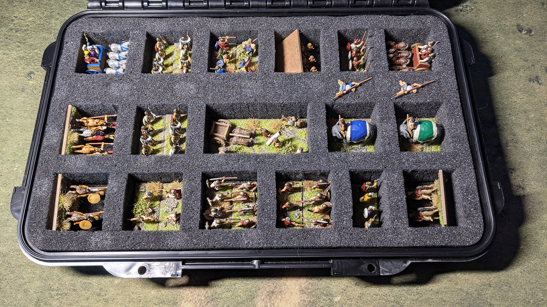 The Early and Late Carthaginian armies share many common units and I can just about fit both in a single storage box.