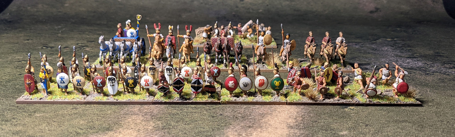 The complete army with all options and camp.