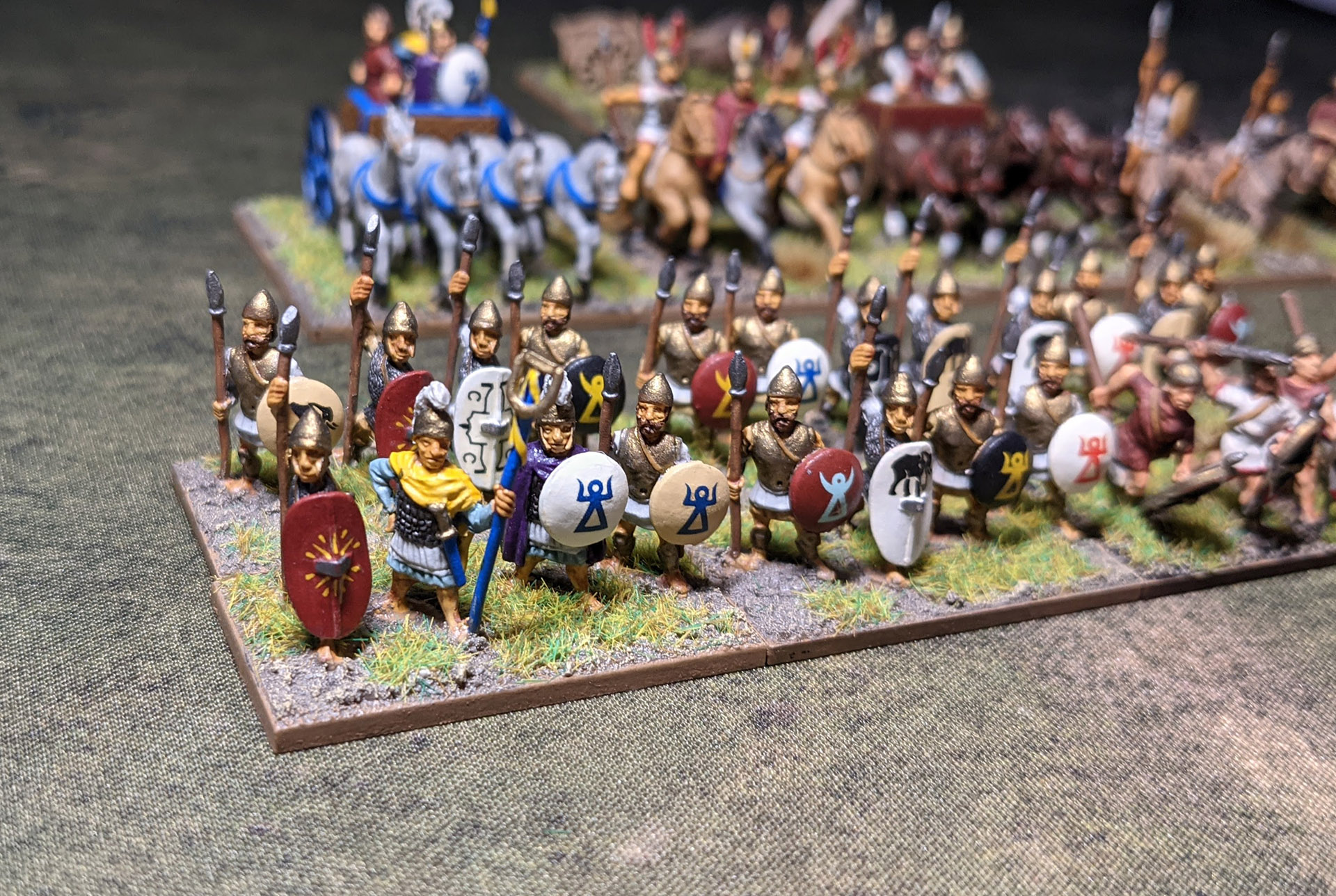 Poeni and North African infantry including a commanders unit.  There is a limited number of options and poses from Essex for this unit so some effort was needed to make the units look interesting.